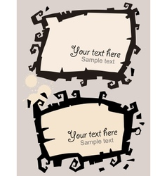 Black frame with curls vector