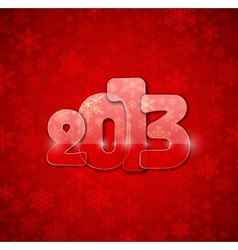 2013 year from glass vector