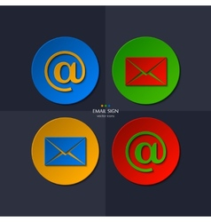 Set of email icon vector