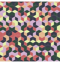 Cube seamless pattern vector