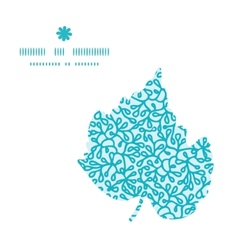 Abstract underwater plants leaf silhouette pattern vector