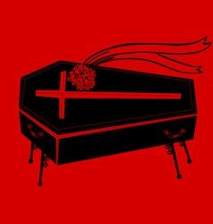Black coffin vector