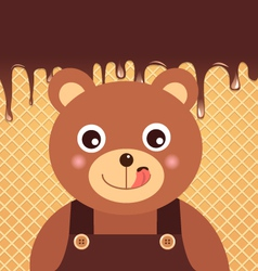 Bear chocolate vector