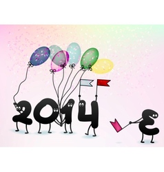 Funny 2014 new years eve greeting card  eps10 vector