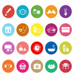 Health behavior flat icons on white background vector