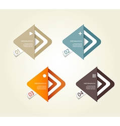 Four colored paper arrows with place for your own vector