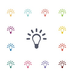 Idea flat icons set vector
