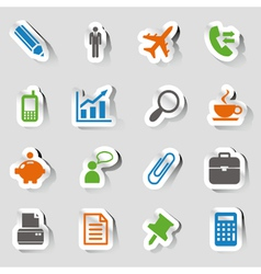 Stickers - office and business icons vector