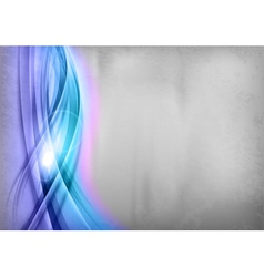 Background blue wave grey vertical vector