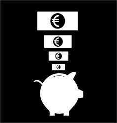 Piggy bank icon vector