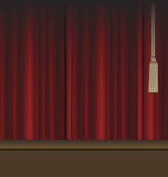 Red curtains to theater stage vector