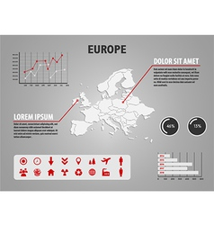 Map of europe - infographic vector