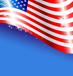 Abstract american flag background for independence vector