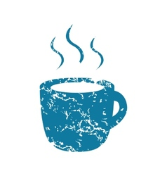 Grunge hot drink icon vector