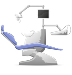 Medical dental arm-chair vector