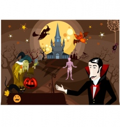Halloween card vector