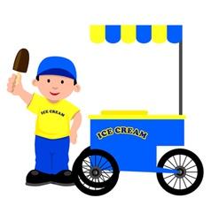 Ice cream seller vector
