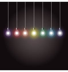 Light bulbs vector