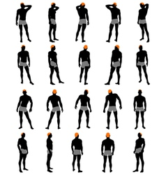 Mens silhouette vector