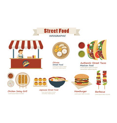 Street food infographic flat design vector