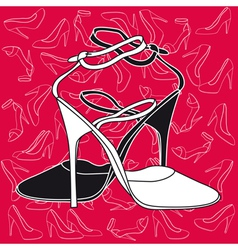 Fashion heels vector