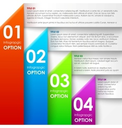 Paper infographics options banner vector