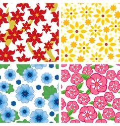 Flower pattern set vector