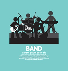 Band of musician black symbol vector