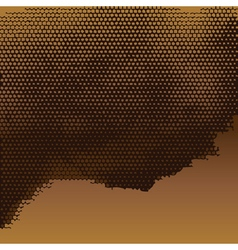 Abstract golden halftone background vector