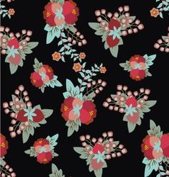 Floral vintage pattern romantic vector