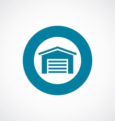 Car garage icon bold blue circle border vector