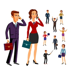 Set characters design office team man women vector