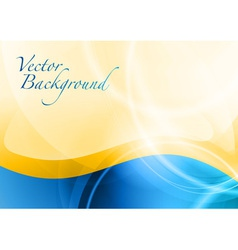 Background abstract blue and orange wave text vector