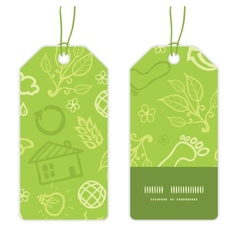 Environmental vertical stripe frame pattern tags vector