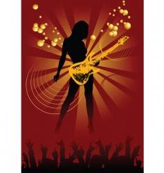 Disco guitar vector