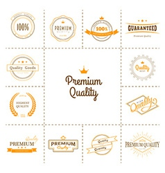 Premium quality labels set vector