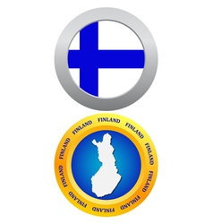 Button as the character finland vector