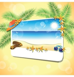 Picture of the sand beach landscape vector
