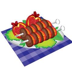 Kebab dish vector