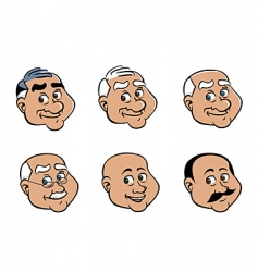 Old man's face vector