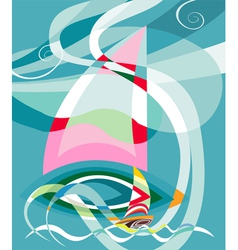 Sailing race vector