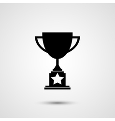 Trophy icon vector
