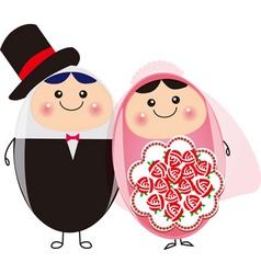 Happy couple vector