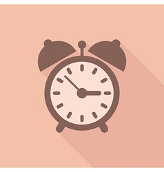 Alarm clock with shadow vector