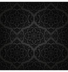 Damask seamless pattern orient dark vector