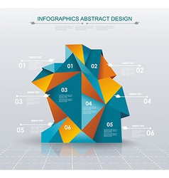 Business infographics polygonal design style vector