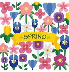 Spring flower background flat design vector