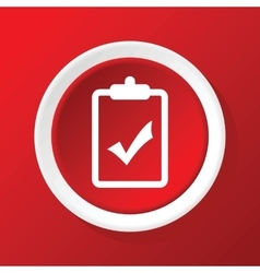 Positive decision icon on red vector