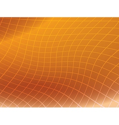 Orange background with distorted grid vector