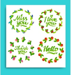 Greeting cards for different occasions everyday vector